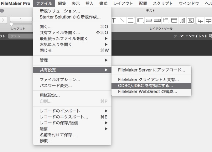 FileMaker ODBC 設定