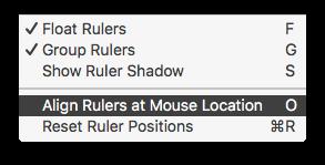 Free Ruler 2.0 menu
