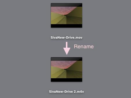 拡張子変更の図