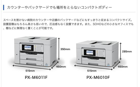 PX-M6011F 設置面積
