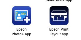 Epson Photo+.app とEpson Print Layout.app